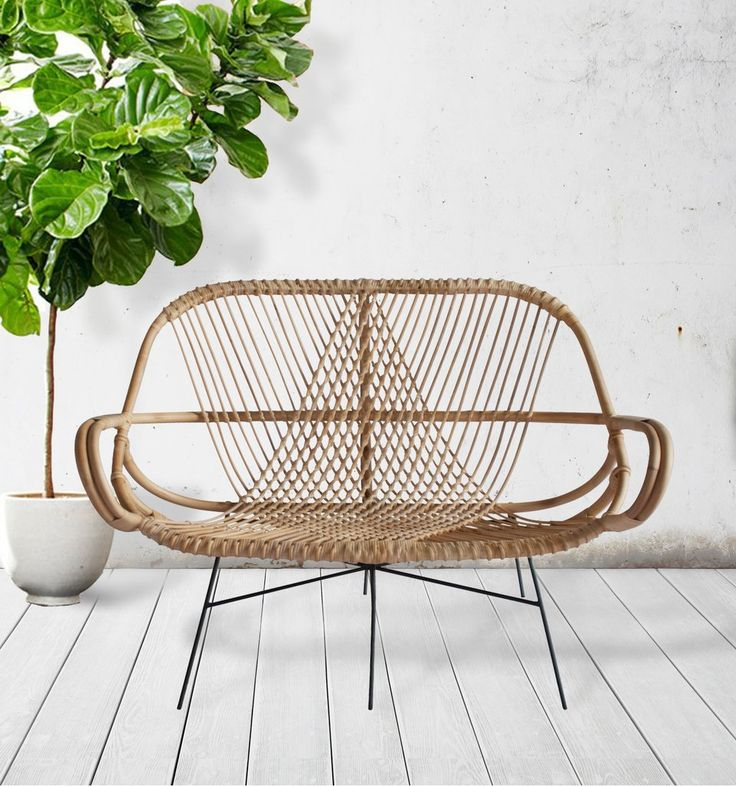 Diamond Rattan Settee | Forma Living