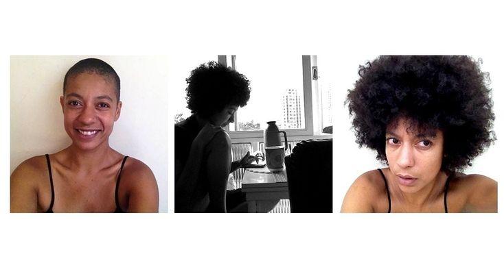 """Cintia Sanchez (33) atua como produtora, fotógrafa e cozinheira. Ela está careca desde julho de 2014 e resolveu raspar pelo motivo mais simples de todos: """"Eu estava com calor"""". Ela já raspou a cabeça mais de dez vezes e gosta da praticidade do visual. """"É bom ficar sem o compromisso de arrumar o cabelo"""", explica"""