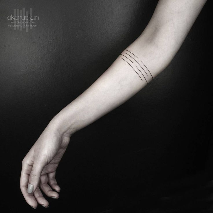 Okan Uckun Minimal & Geometric Tattoos : Photo
