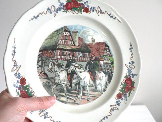 Vintage Sarreguemines  French Porcelain Dish  Pyroblan French