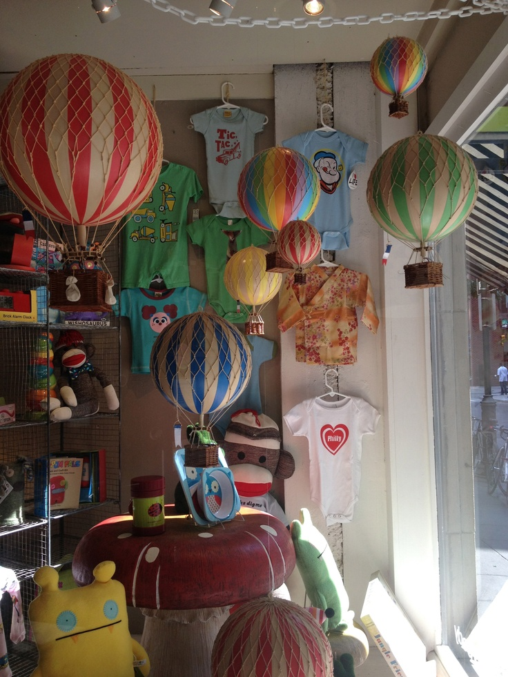 The store window that inspired me to go with Hot Air Balloons - in Philly