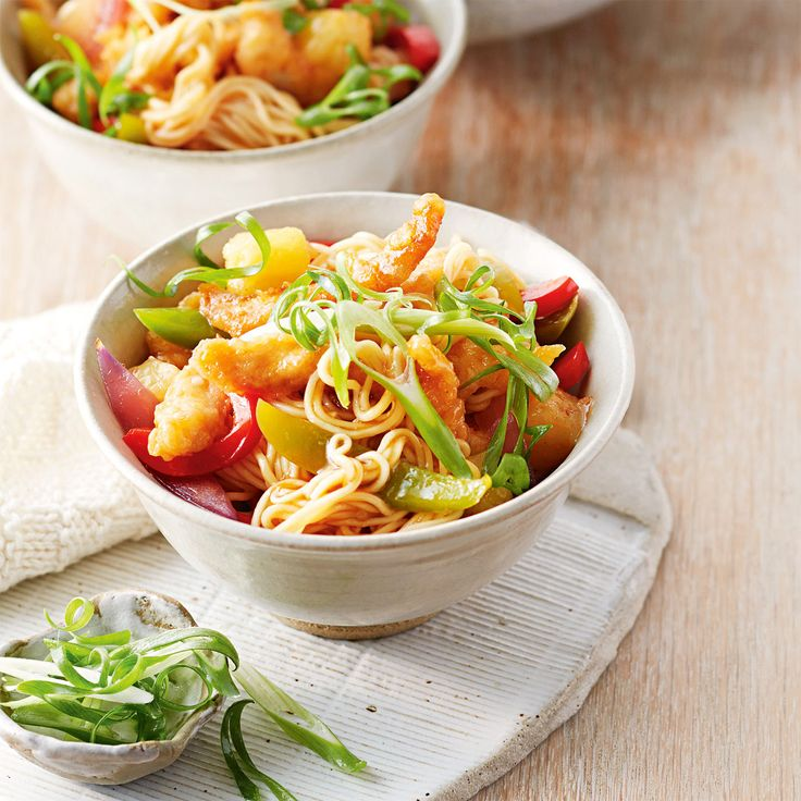 How to make Sweet & Sour Chicken with Noodles #Sweet #Sour #Chicken #Noodles #Dinner