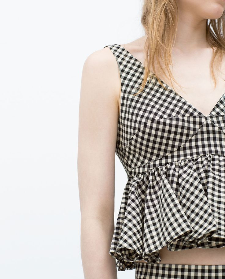 Image 4 of GINGHAM TOP from Zara
