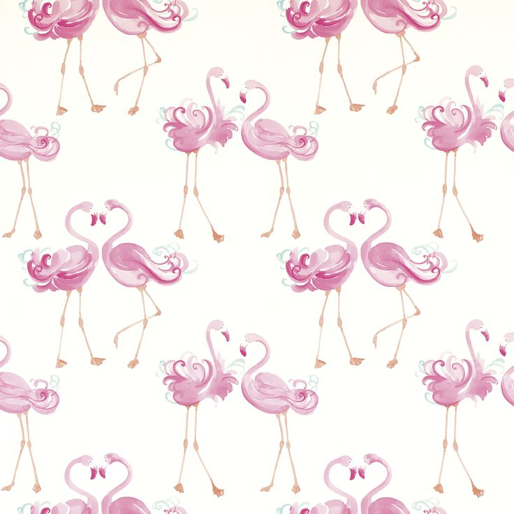 Pretty Flamingo Wallpaper at Laura Ashley - I'd so put this is a loo or somewhere funny