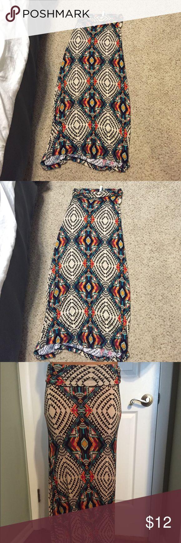 Tribal maxi skirt Comfy long printed maxi Skirts Maxi