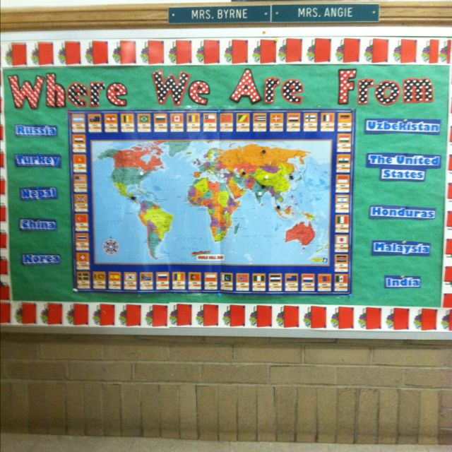 Esl Classroom Door Decoration ~ Where we are from esl bulletin board i don t care for