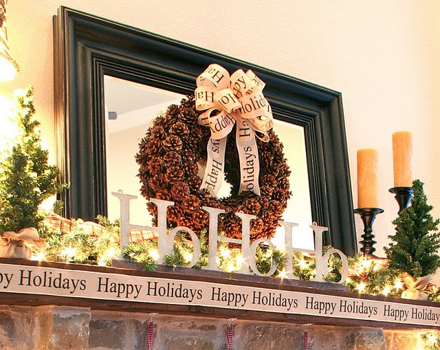 Mantle: Mantel Decorating, Christmas Fireplaces, Christmas Decorations, Crafts Christmas Mantles, Christmas In, House, Holiday Decorating, Christmas Ideas