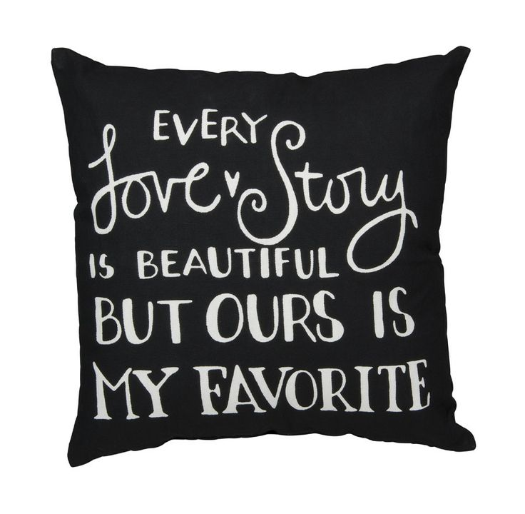 Every Love Story Accent Pillow