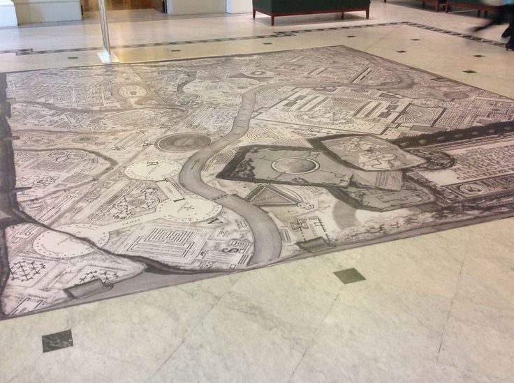 Maps on the floor