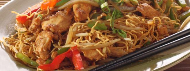Zeste | Chow mein thai au porc et aux légumes