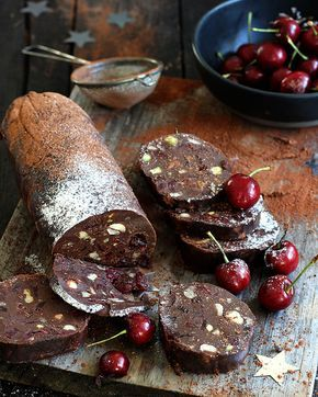 Wow the crowds with this cherry-almond chocolate salami. Loaded with nuts, double thick cream and sinful amounts of chocolate, it's velvet on the tongue.