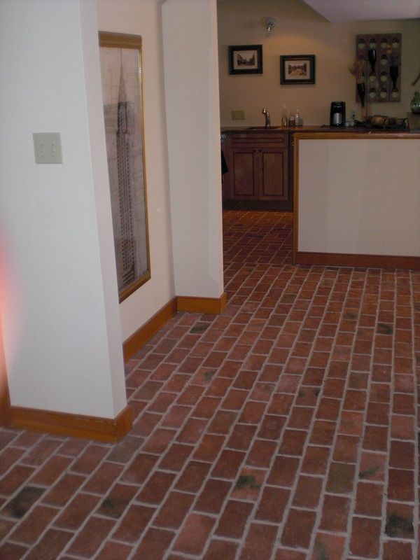 Brick Pavers In Kitchen : Best images about brick paver flooring on pinterest
