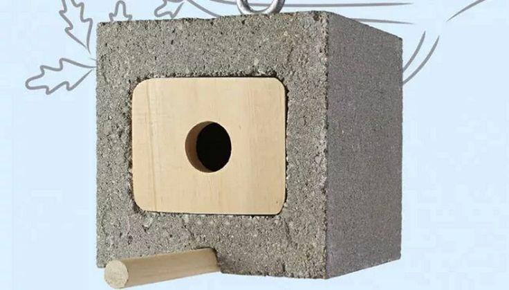 Birdhouse | 14 Simple Cinder Block Outdoor Crafts