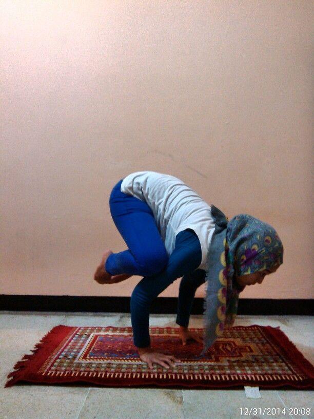 My favourite pose! #Namaste #CrowPose #ArmStrength #ArmBalance #YogaPractice