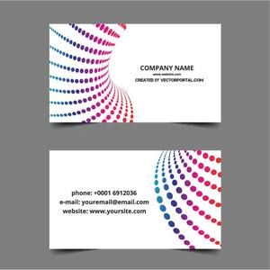 Business Card Layout In Vector Format  Name Card Format