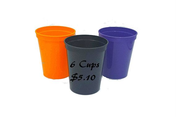 Halloween Ideas, School Halloween Party Supplies, Halloween Cups, Plain Cups, Halloween DIY, Halloween Craft, Halloween Parties, DIY Crafts