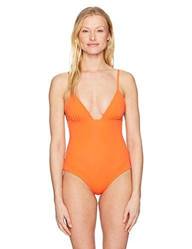 Mara Hoffman women's virginia swimsuit one piece in orange. http://darrenblogs.com/us/2018/01/03/mara-hoffman-womens-virgina-classic-one-piece-swimsuit/