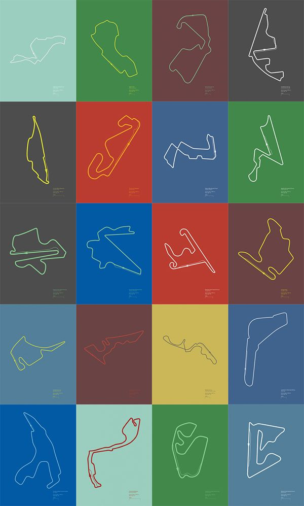 Formula 1 Circuits - Poster Series on Behance
