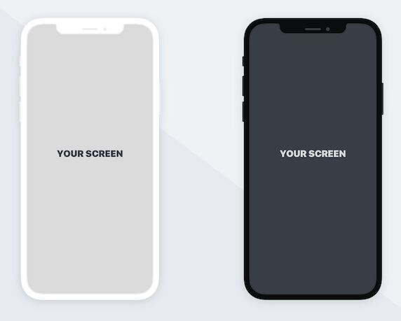 Free Minimal Flat Iphone X Mockup For Sketch Titanui Iphone Iphone X Mockup