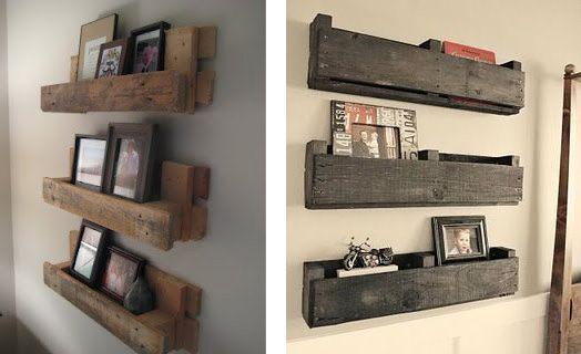 Détournez le bois pour votre déco ! - étagères murales en bois de palette