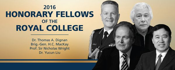 Our Prof Sir Nicholas Wright is honoured by the Royal College of Physicians and Surgeons of Canada this year with a 2016 Fellowship