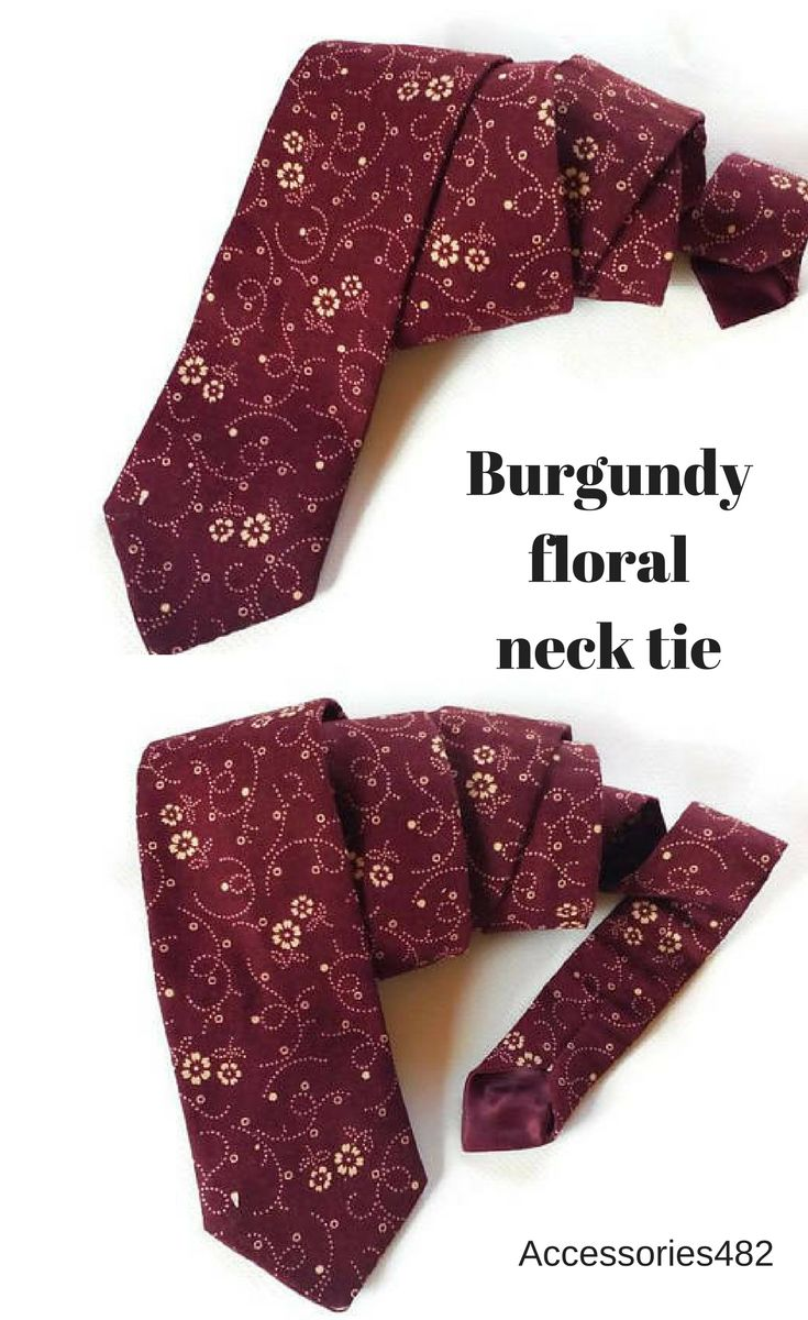 BUrgundy wedding ideas for groom and groomsmen Burgundy wedding accessories fpr men Burgundy floral ties for groomsmen, for groom Wedding ties for groomsmen #burguny_wedding #burgundy_tie #burgundy_floral