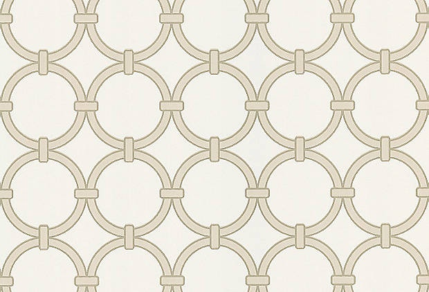 Chain-link Wallpaper, Taupe/Mocha