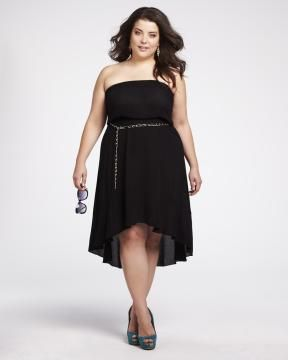 bustier dress with chain belt | Shop Online at Addition Elle Addition Elle, plus size, fashion, trends, summer essential