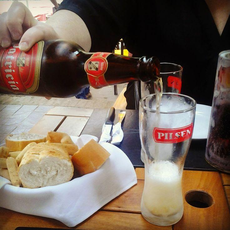 Don Pedro - Restaurante Colonia del sacramento , a cerveja mais geladinha :)