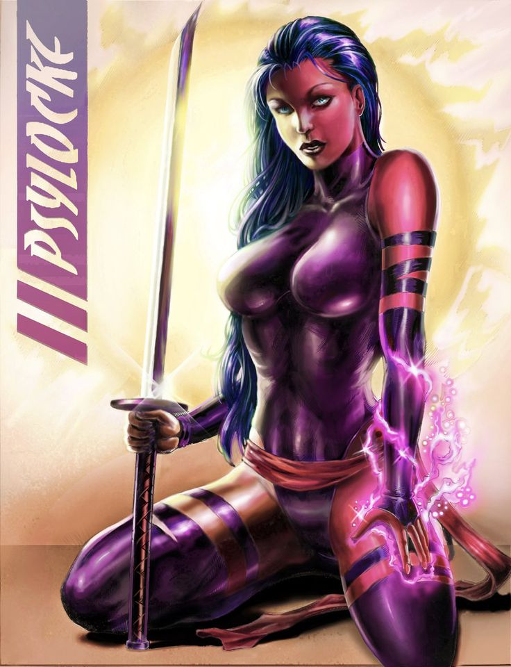 Marvel Psylocke Art 121 best X-Men - Psylo...