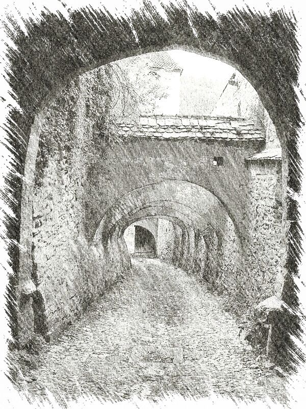 day  117 ~ Archway..  Cobbled Archway