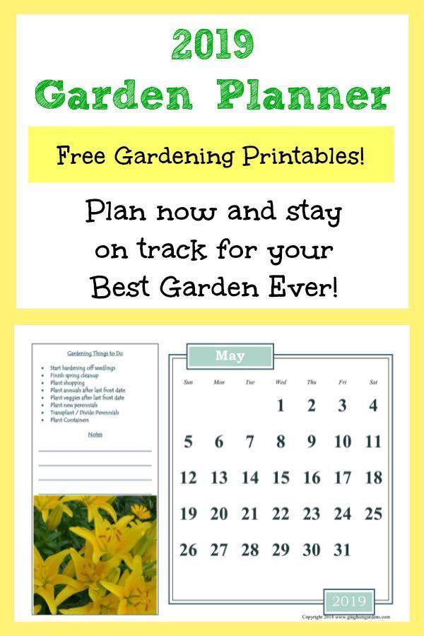 graphic about Free Printable Garden Journal named 2019 Gardening Calendar Flower Gardens No cost backyard