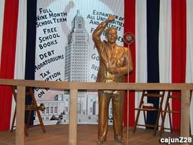 Speaking Huey Long statue - Old State Capitol Museum, Baton Rouge.
