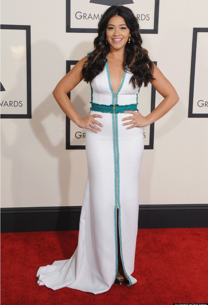 Extremely happy and excited to see the fabulous Gina Rodriguez (@hereisgina), who recently won a Golden Globe award (@goldenglobes) for her performance in Jane the Virgin (@cwjanethevirgin), wearing #christoscostarellos at the Grammys (@thegrammys) Red Carpet two nights ago! #costarellos #ginarodriguez #thegrammys #thegrammys2015 #thegrammysredcarpet #thegrammysawards #grammys #grammys2015 #redcarpet #grammysawards #grammysweekend #goldenglobes #eveningdress #cwjanethevirgin #janethevirgin