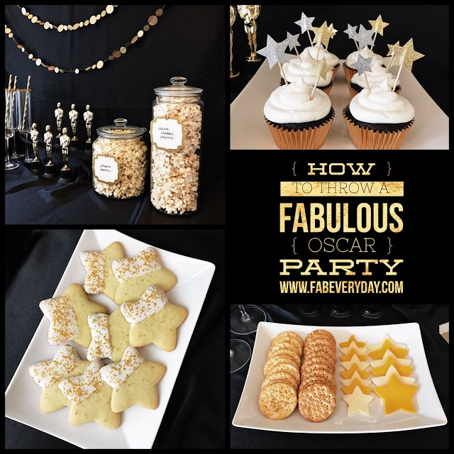Throw a fabulous Oscar party! Click or visit FabEveryday.com for tips on food, decor, and activities for throwing an easy (but fab) awards show party. Including a free printable Oscars voting ballot!