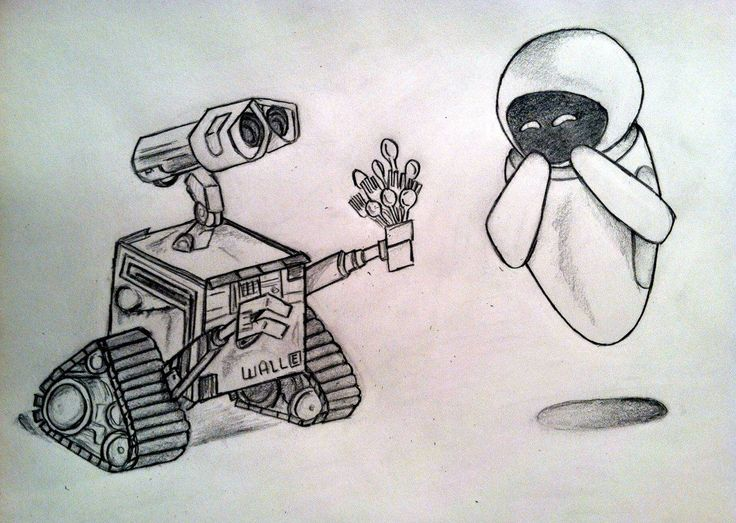 Wall E Pencil Drawing Of My Favorite Disney Movie