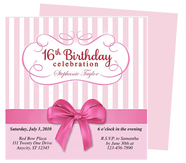 34 best Birthday Invitation Templates For Any Party images on - birthday invitation design templates