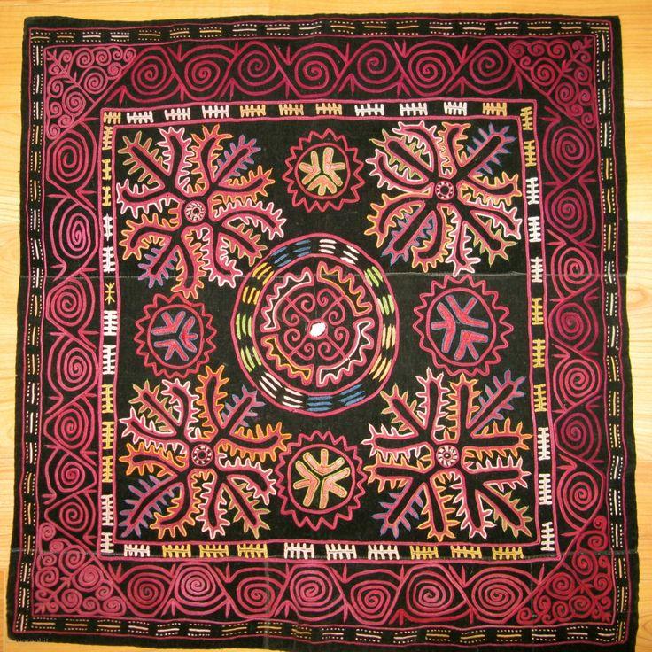 Kirghiz embroidery on velvet