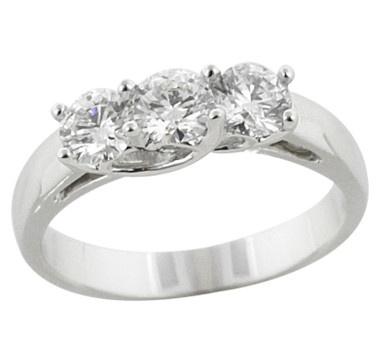 14K Gold 1.00 Carat Diamond Trinity Ring    #ilovetoshop