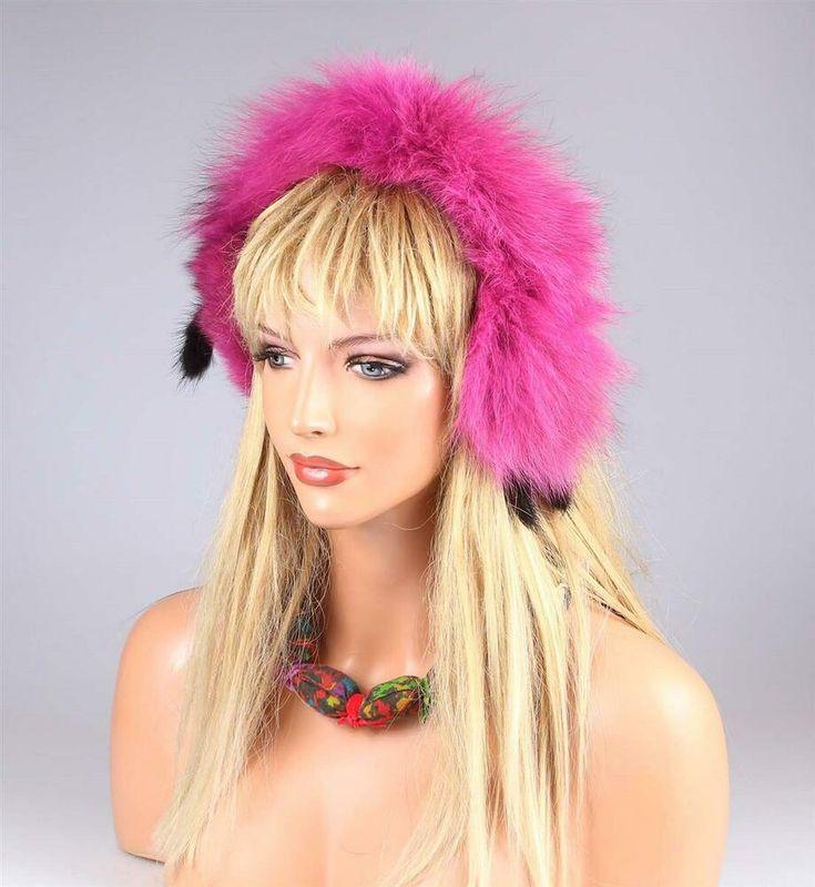 Ladies Fox earmuffs winter hat fur band headband earmuff Earmuffs …   – Made in Italy