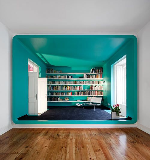 Turquoise reading room