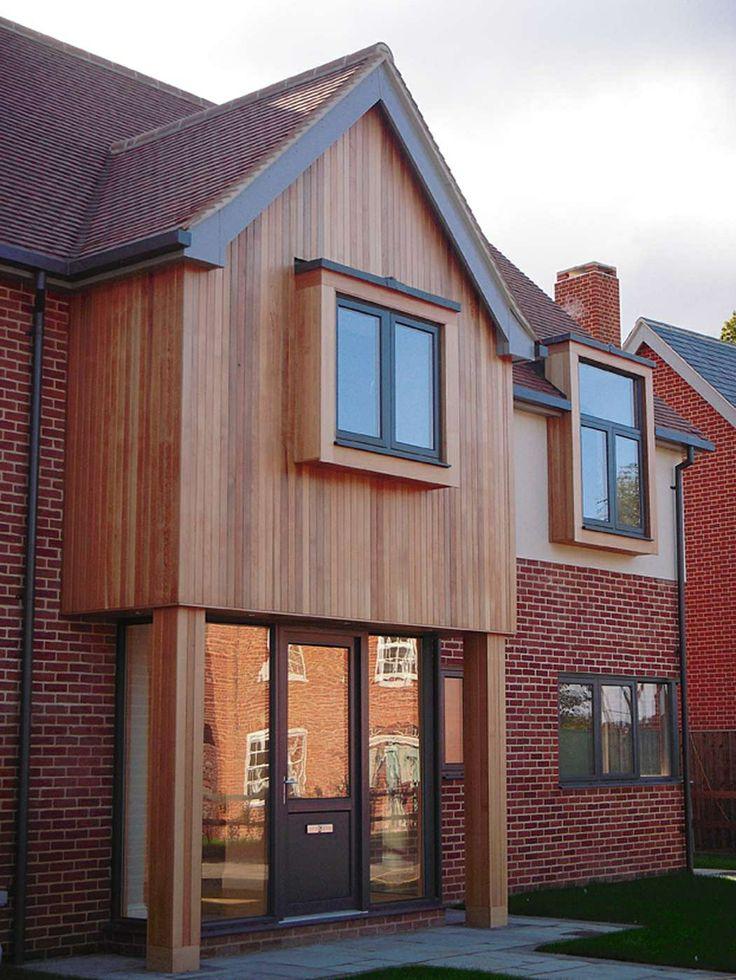 Iroko wood cladding house
