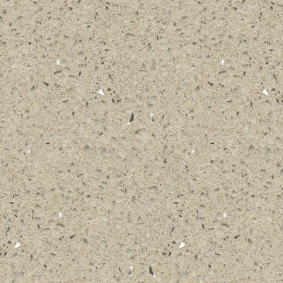 Silestone 4 in quartz countertop sample in stellar cream for Silestone o granito