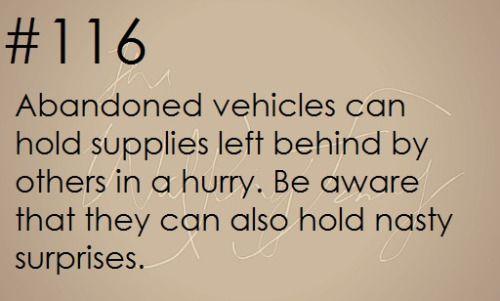 Zombie Apocalypse Survival Tip #116