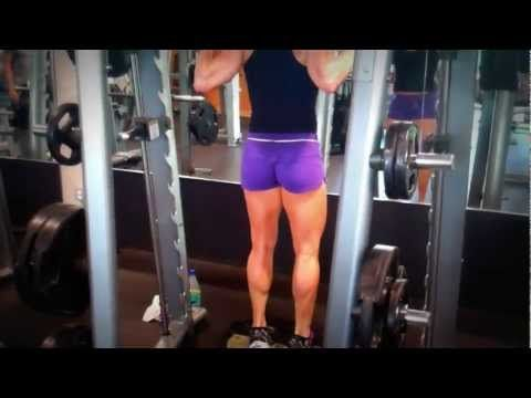erin stern does calf raise on the smith machine  youtube