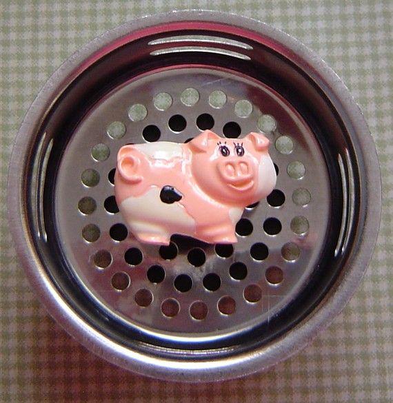 Pig Hog Stainless Steel Kitchen Sink Strainer by FunSinkStrainers, $6.95