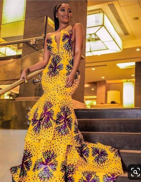 Ankara Prom Gown; African Print Dress; Ankara summer dress;  Ankara Clothing for women; African fashion; African Maxi dress;  Prom dress