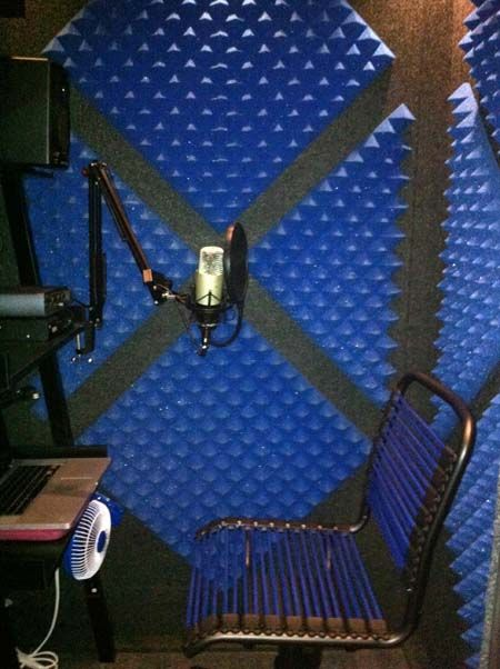 MDL 4848 S Dina Sanzobrino - MDL 4848 S with optional Caster Plate  I like the layout of the sound proofing material.  #VO #VoiceOver #WhisperRoom #Cool