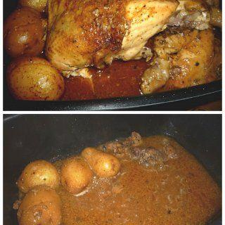 Pollo a las Hierbas Cocinado en Olla de Lento Cocimiento