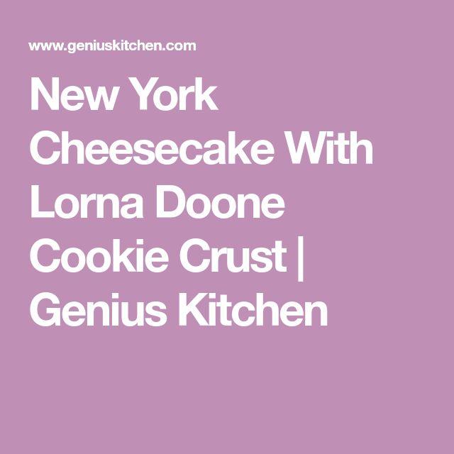 New York Cheesecake With Lorna Doone Cookie Crust   Genius Kitchen